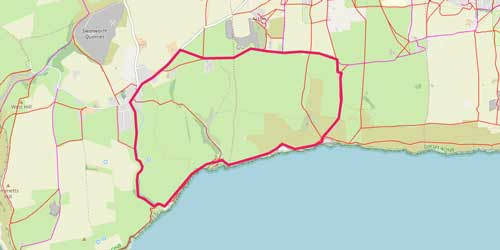 South Purbeck Cliff Walk Walk Route