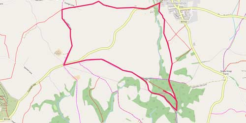 Lewesdon Hill Walk Route